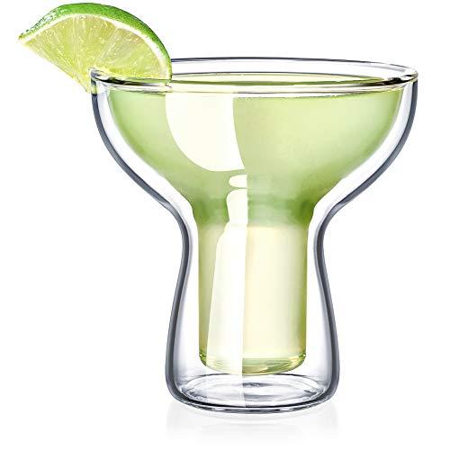 Dragon Glassware Margarita Glasses, Lead-Free Insulating Double Walled Bar Glasses For Margaritas, Pina Coladas…