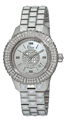 Christian Dior Women's CD113512M001 Christal White Diamond Dial Watch