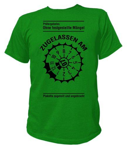 Artdiktat T-Shirt Ohne festgestellte Mängel Zugelassen am 07.08 Unisex, Größe M, grün