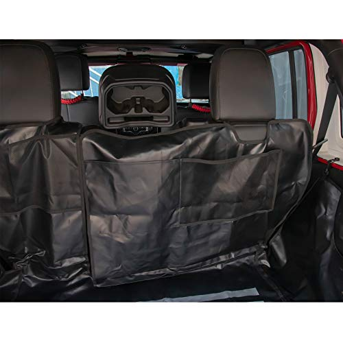Pet Dog Cat Seat Cargo Liner Cover for Jeep Wrangler JK JL 2007-2020 4Door Large Size Hammock with Waterproof Stain-Resistant Non Slip Backing Heavy Duty Oxford