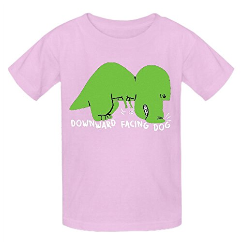 Happy New Year Horn (Snowl T Rex Does Yoga Funny Boys' Crew Neck Short Sleeve Tee)