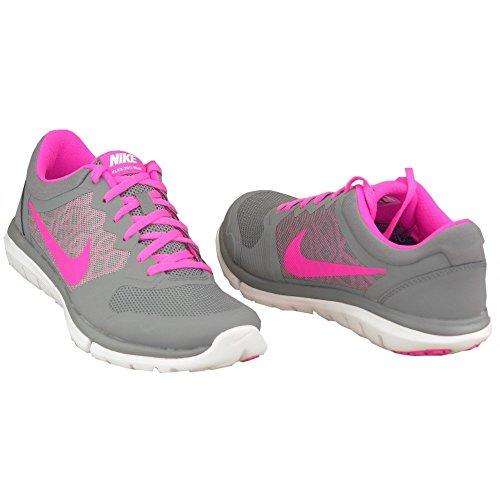 Nike Vrouwen Flex Run 2015 Hardloopschoen Koel Grijs / Roze Pow-wit