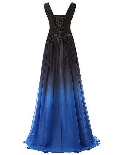 Farbverlauf Clearbridal Maxikleid Brautjungfer Bandage SD341 Kleid Formale Damen Chiffon Abendkleid UK12 OCwq4IC
