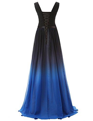 Brautjungfer SD341 Chiffon Farbverlauf Clearbridal Bandage Maxikleid Damen UK16 Kleid Formale Abendkleid xE0xwqIpzU