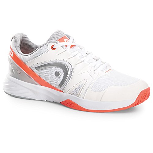 HEAD Nitro Team Whnc Damen Tennisschuhe Blanc (Blanc /Orange/Argent )