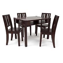 Delta Children Table and 4 Chairs Set, Espresso