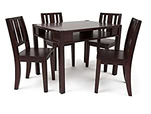 delta children table and 4 chairs set espresso baby. Black Bedroom Furniture Sets. Home Design Ideas