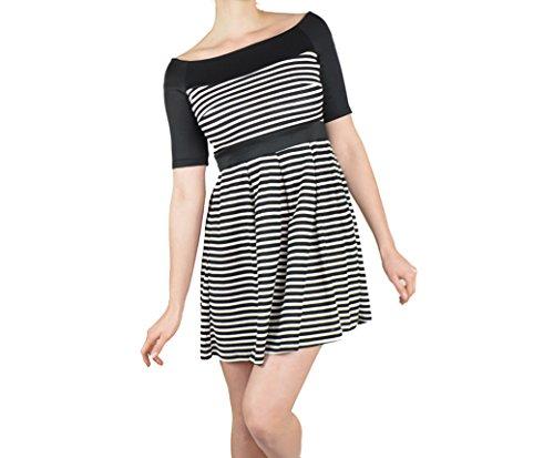 Kleid mit Streifen für jeden Anlass schwarz/weiss Abendkleid ...