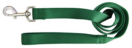 Image of Hamilton Single Thick Nylon Dog Lead, 1-Inch by 6-Feet, Green