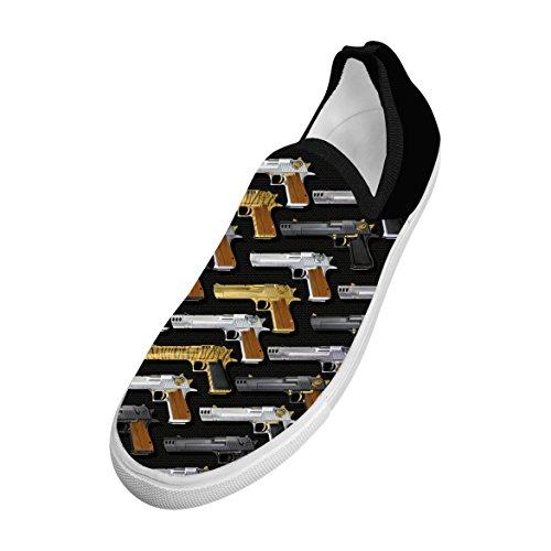 WCWC Men's Eagle Desert Unique Fly Knit Sneaker Shoes 12 D(M) (Desert Eagle Caliber)