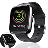 Fitness Tracker Sport Watch with Blood Pressure Heart Rate Monitor IP67 Waterproof SmartWatch for Men Women Kid 1.3 TFT Android iOS Activity Pedometer Bluetooth Phone Call Music Camera Halloween Gift Review