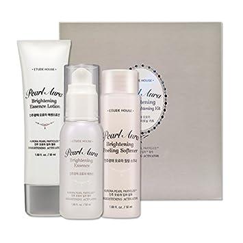 Etude House Pearl Aura Skin Care (Pearl Aura Fall in Brightening Kit)