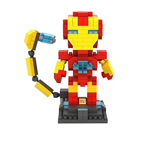Yang baby Children's Educational Building Blocks Toys, Small Particles Miniature Building Blocks Toys, Iron Man, Hornet, Optimus Prime Building Blocks Assembling Model Toys (Color : 250 Particles)