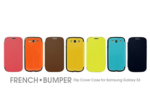 Cellet Arium French Bumper Flip Cover Case for Samsung Galaxy S3 - Canary Yellow (Galaxy S3 Flip Case Yellow)