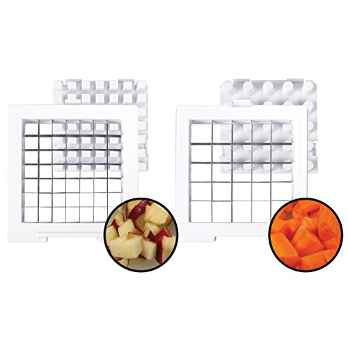 Weston Products French Fry Cutter and Veggie Dicer Plastic, White