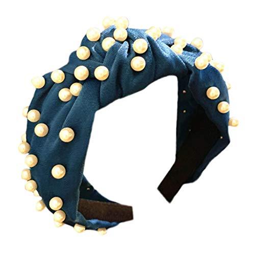 Lloopyting Elastic Rhinestone Beaded Women Headbands Hair Band Bows Accessories Modern Style Beach Hair Accessory