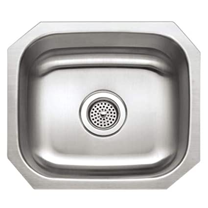 proflo pfuc109 16 single basin undermount stainless steel kitchen rh amazon com