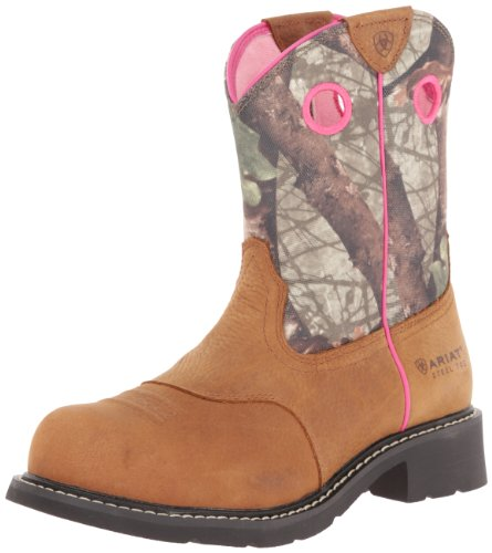 Ariat Women's Fatbaby Cowgirl Steel Toe Work Boot, Toasted Auburn/Camo, 6 M US ()