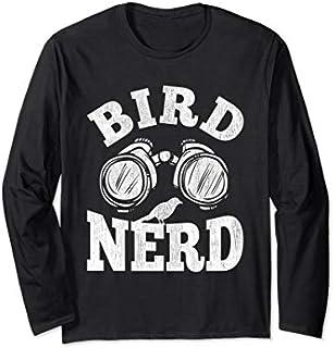 Funny Ornithology Bird Lover Design Bird Nerd Long Sleeve T-shirt | Size S - 5XL