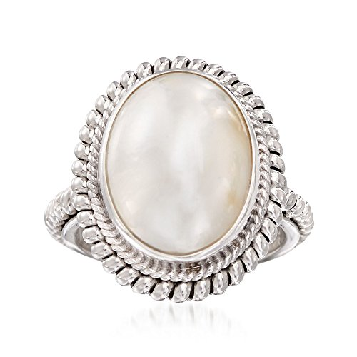 Ross-Simons 13-18mm Mabe Pearl Balinese Ring in Sterling Silver Mabe Pearl Pearls