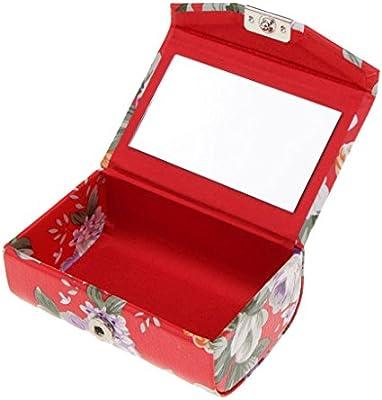 B Blesiya - Estuche para pintalabios con botón de presión y espejo rojo: Amazon.es: Belleza