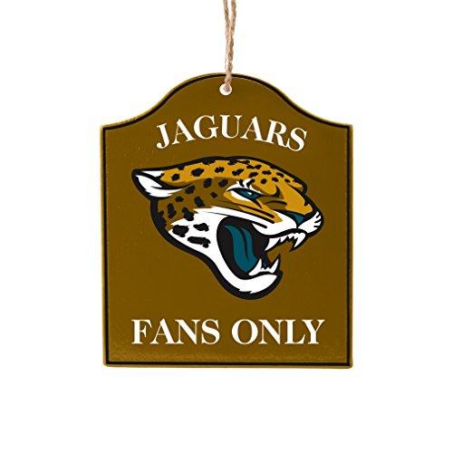 Boelter Brands NFL Jacksonville Jaguars Wooden Fan Sign Ornament