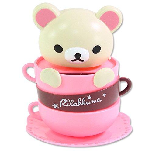Cute San-X Rilakkuma Cream Bear in a Coffee Mug Solar ECO Japan Figure Limited Solar Toy Home Decor Birthday Congratulatory Gift US Seller