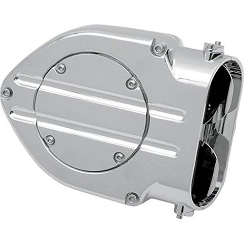 Kuryakyn 9995 Hypercharger Air Cleaner/Filter with Blood Groove Design Trap Door for 1991-2006 Harley-Davidson Motorcycles, Chrome