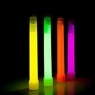 12-Pack Industrial Grade Neon Fluorescent Emergency Glow Sticks, Plus BONUS Emergency Blanket, Ultra Bright Light Sticks (4 Colors) with Up To 12 Hours Duration - Bulk Lightsticks For Adults And Kids