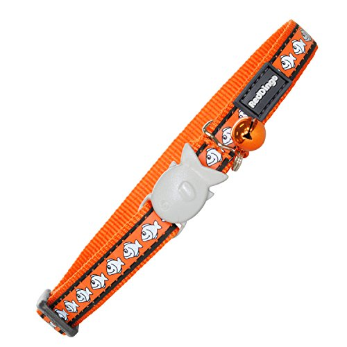Red Dingo Reflective Cat Collar, One Size Fits All, Orange