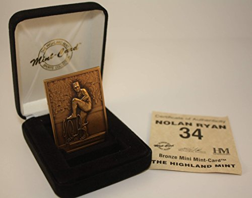 - NOLAN RYAN 1996 Highland Mint Mini BRONZE METAL Card Limited Edition & Numbered