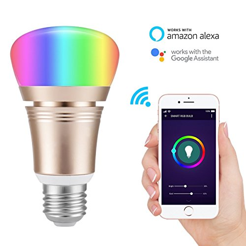 KingSo Wi-Fi Smart Light Bulb, Dimmable Multicolored LED Bulbs, 60W Equivalent(7W), Compatible with Amazon Alexa and Google Home, No Hub Required Review