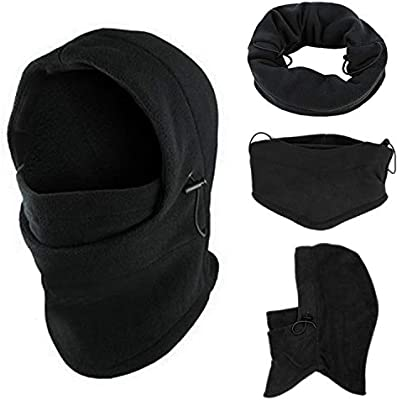 8c40badc846 Amazon.com   Balaclava Ski Mask Motorcycle Running Full Face Cover  Windproof with Fleece Masks Hats for Men Women Outdoor Sport Mask   Sports    Outdoors