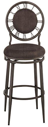 Hillsdale Furniture 5905-830 Big Ben Swivel Bar Stool, Pewter