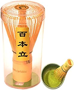 ARTDOU Matcha Tea Set Golden Bamboo Matcha Green Tea Whisk…