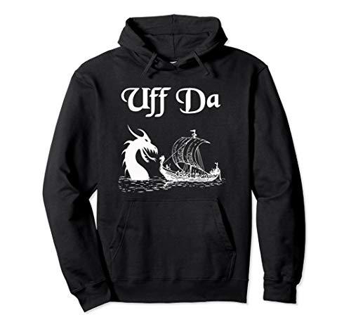 Uff Da Viking Boat and Dragon Pullover - Da Dragon