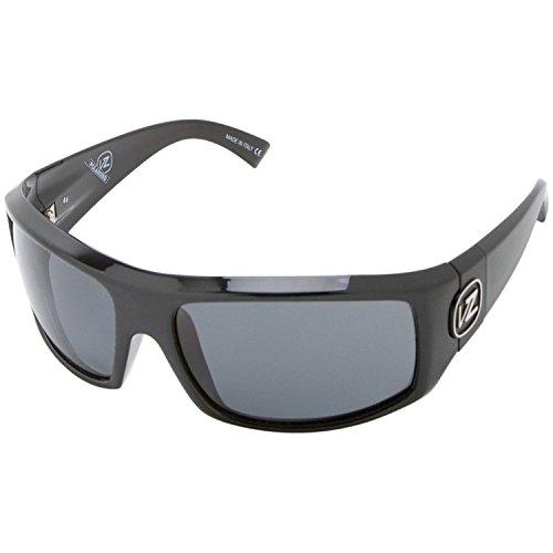 VonZipper Clutch Men's Polarized Sports Sunglasses/Eyewear - Black Gloss/Grey Poly / One Size Fits All