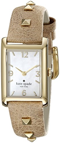kate spade new york Women's 1YRU0246 Cooper Stainless Steel Watch With Light Brown Leather Band