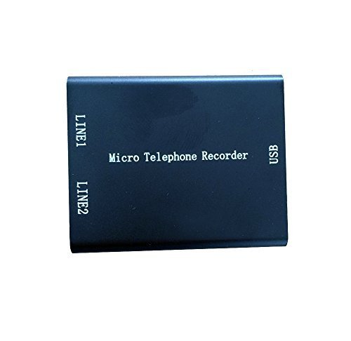 eoqo Micro telephone audio voice recorder with 16gb memory, Micro SD Card Phone Voice Recorder,Super Mini USB Telephone Recorder