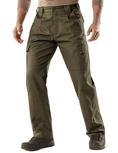 CQR Men's Tactical Pants Lightweight EDC Assault Cargo, Duratex(tlp106) - Tundra, 30W/32L