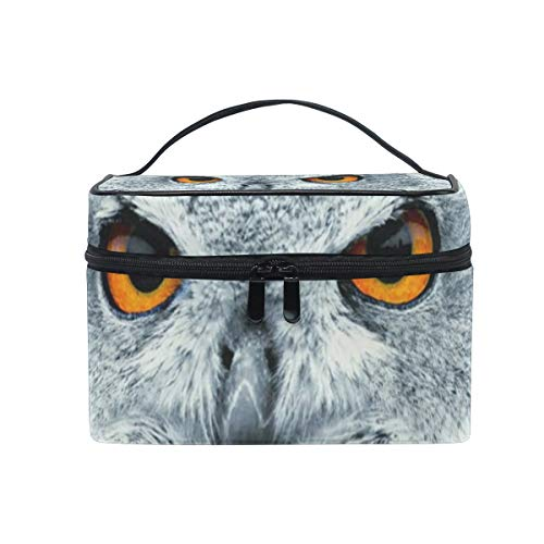 All agree Cosmetic Bag Owl Eyes Womens Makeup Organizer Girls Toiletry Case Box Lazy Zip Bag