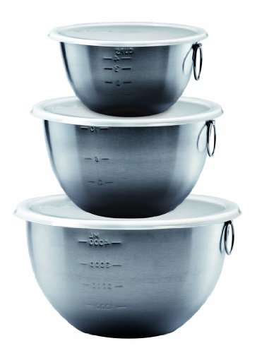 Tovolo Tight Seal, Stainless Steel, Deep Mixing Bowls - Set of 3