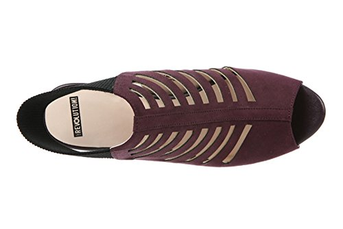 Womens Sandals S Fabric Peep Aubergine Slingback Toe L Revolution Amazing Casual 4TPEPq