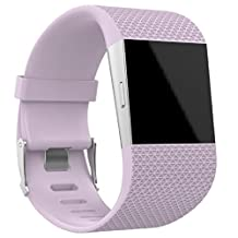 Fitbit Surge Watch Band(Large), ABC® Replacement Wristband Band Strap Clasp Buckle Tool Kit with Tools (Pink)