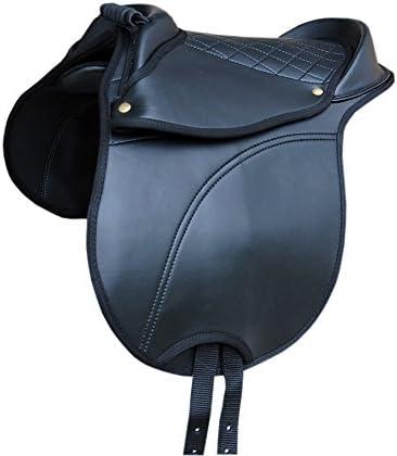AMKA Pony Shetty Sillín Amesbichler–con asa Regulable Sillín Cojín también para Madera Caballo también para Madera Caballos Adecuado | Equestrian Horse Cub Saddle