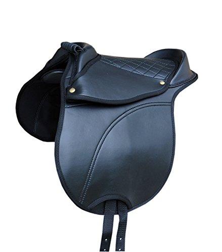 Pony SHETTY Sattel Reitkissen mit Haltegriff verstellbare Sattelkissen auch für Holzpferd auch für Holzpferde geeignet | Equestrian Horse Cub Saddle
