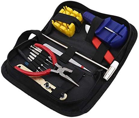 Yesiidor Watch Reparing Tools Anzug mit tragbarer Aufbewahrungstasche Mini Hammer Manueller austauschbarer Schraubendreher Multifunktionszubehör