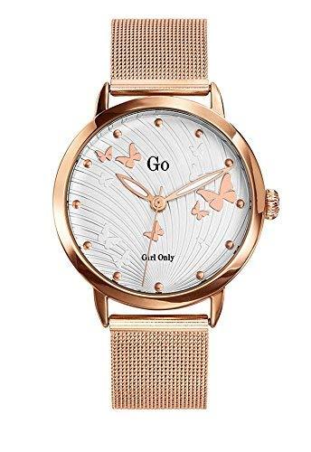 Go 695075 - Reloj de Pulsera Mujer, Metal, Color Dorado: Amazon.es: Relojes