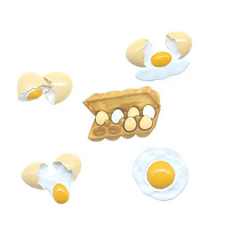 Price comparison product image Set of 5 Economical Practical Dry Erase Board Magnet Fridge Magnets Home Decor Hand Crafts 3D Frying Egg Egg Storage Box cultivating children' cognitive ability