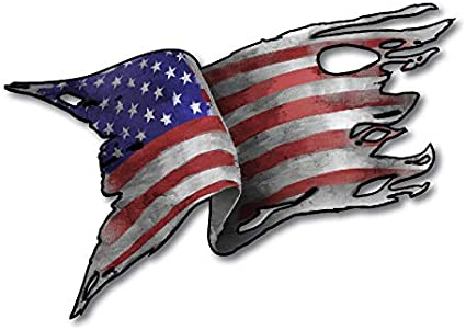 USA COUNTRY FLAG  METALLIC BUMPER STICKER DECAL . 4 X 3 INCH